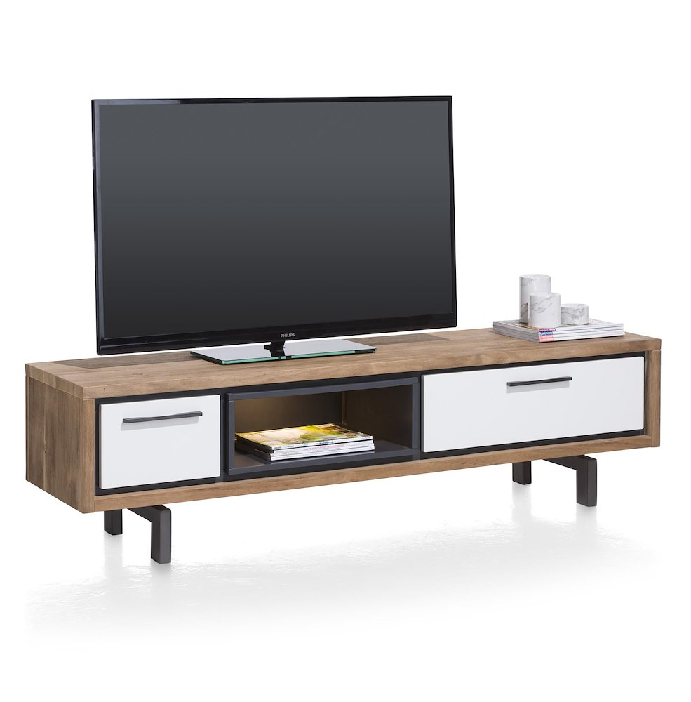 otta meuble tv 1 tiroir 1 porte rabattante 1 niche 170 cm led. Black Bedroom Furniture Sets. Home Design Ideas
