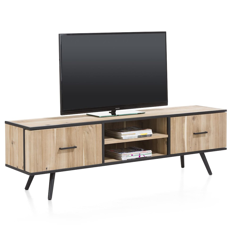 kinna meuble tv 1 porte 1 tiroir 2 niches 190 cm. Black Bedroom Furniture Sets. Home Design Ideas