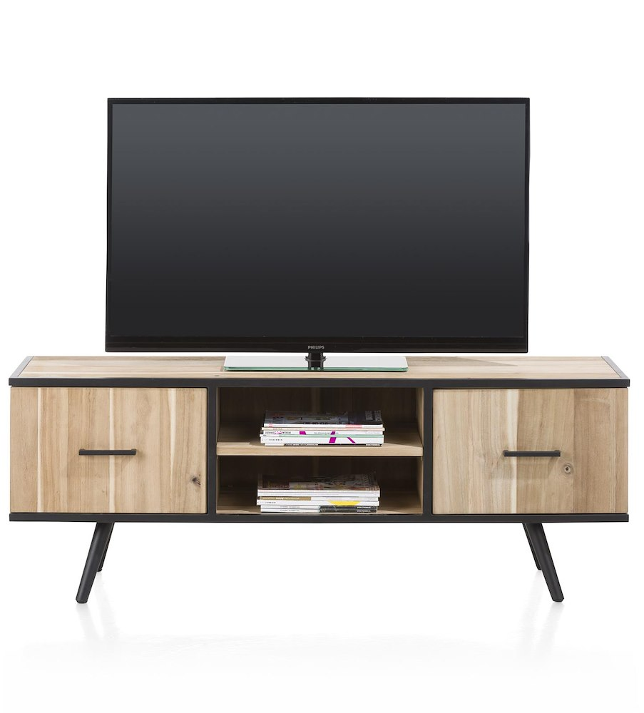 kinna meuble tv 1 porte 1 tiroir 2 niches 150 cm. Black Bedroom Furniture Sets. Home Design Ideas