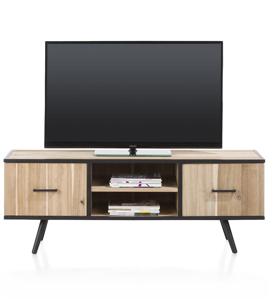 meuble t l 1 porte 1 tiroir 2 niches kinna xooon. Black Bedroom Furniture Sets. Home Design Ideas
