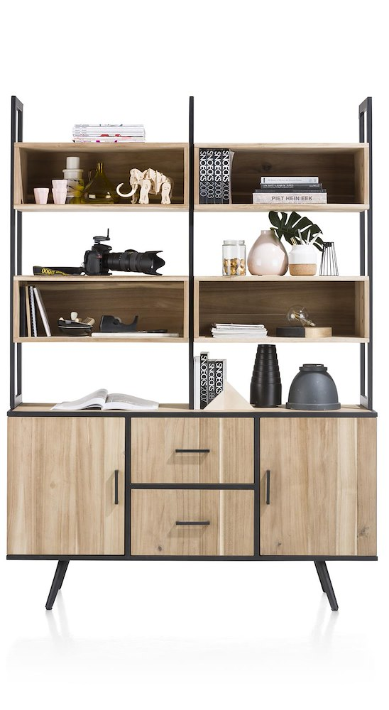 kinna parti haute pour buffet 150 cm 8 niches. Black Bedroom Furniture Sets. Home Design Ideas