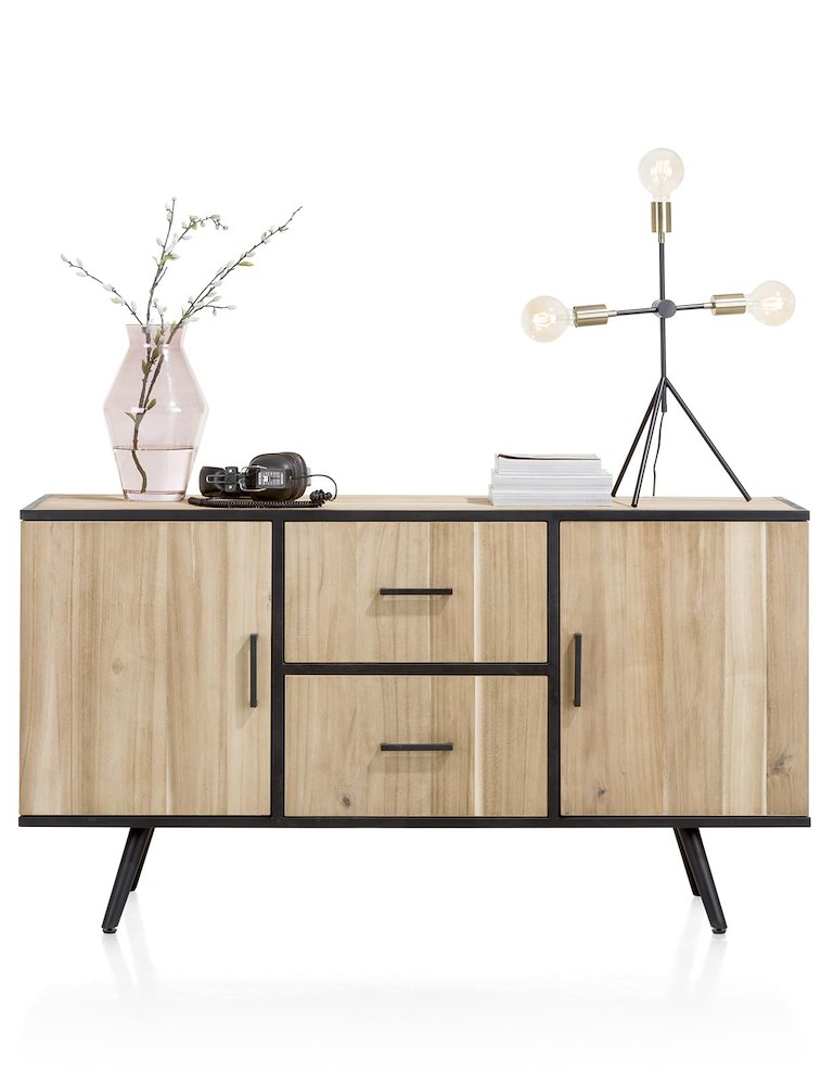 buffet 2 portes 2 tiroirs largeur 150 cm kinna xooon. Black Bedroom Furniture Sets. Home Design Ideas