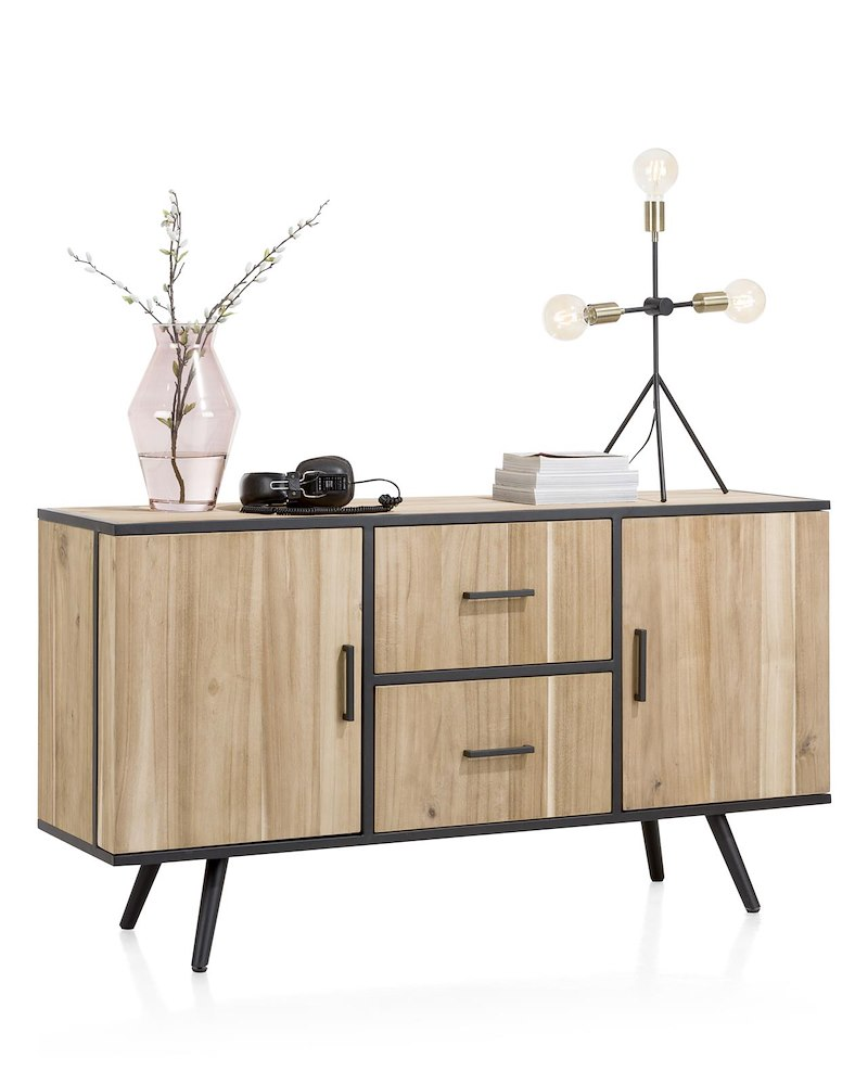 kinna buffet 2 portes 2 tiroirs 150 cm. Black Bedroom Furniture Sets. Home Design Ideas