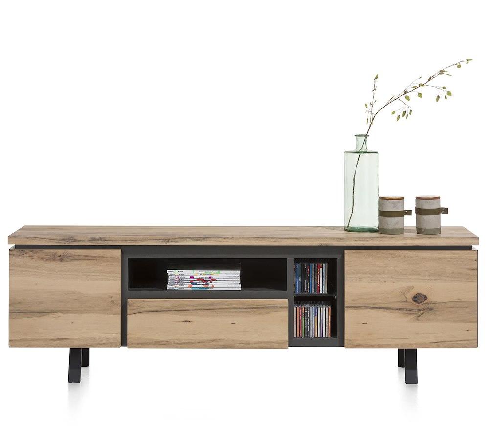 myland lowboard 2 portes 1 tiroir 3 niches 190 cm. Black Bedroom Furniture Sets. Home Design Ideas
