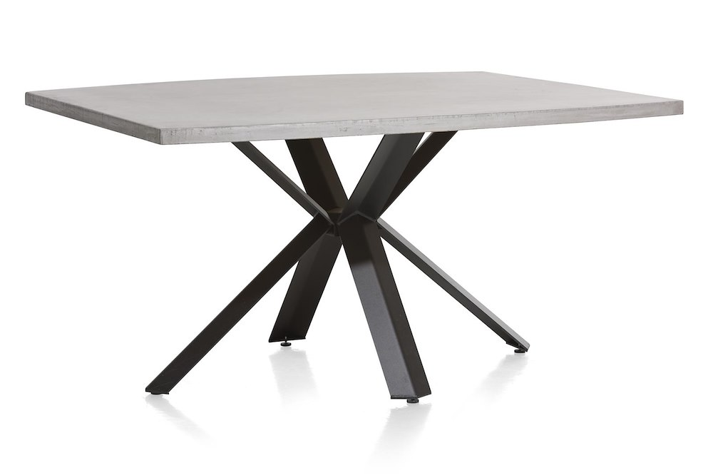 Maddox table 150 x 130 cm beton pied forme etoile for Xooon table salle a manger