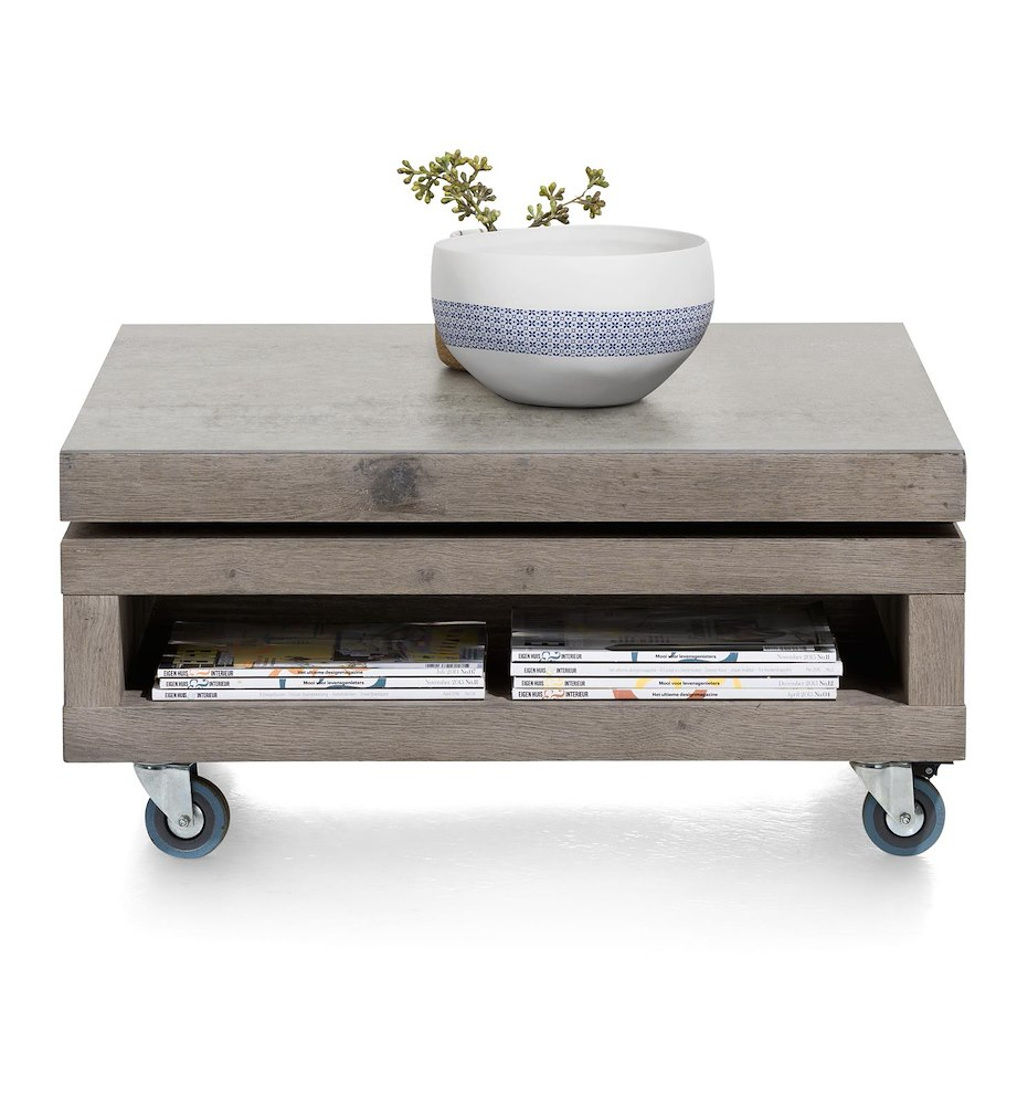 Vinovo table basse 80 x 80 cm plateau pivotante - Table basse 80 x 80 ...