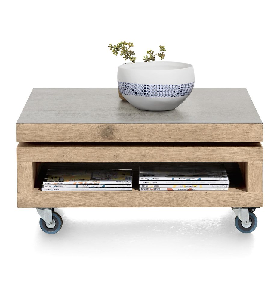 Vinovo table basse 80 x 80 cm plateau pivotante - Table basse 80 x 80 ...