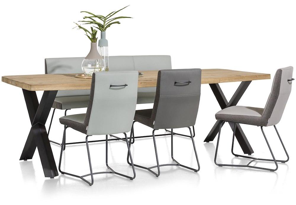 Maddox table 190 x 100 cm bois pied forme etoile - Pied de table 100 cm ...