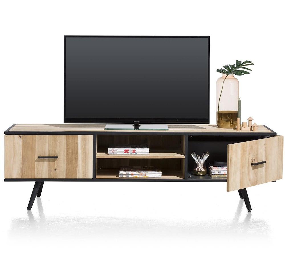 Kinna meuble tv 1 porte 1 tiroir 2 niches 190 cm for Meuble xooon