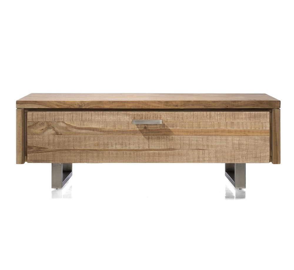 Piura meuble tv 1 porte rabattante 125 cm for Meuble xooon