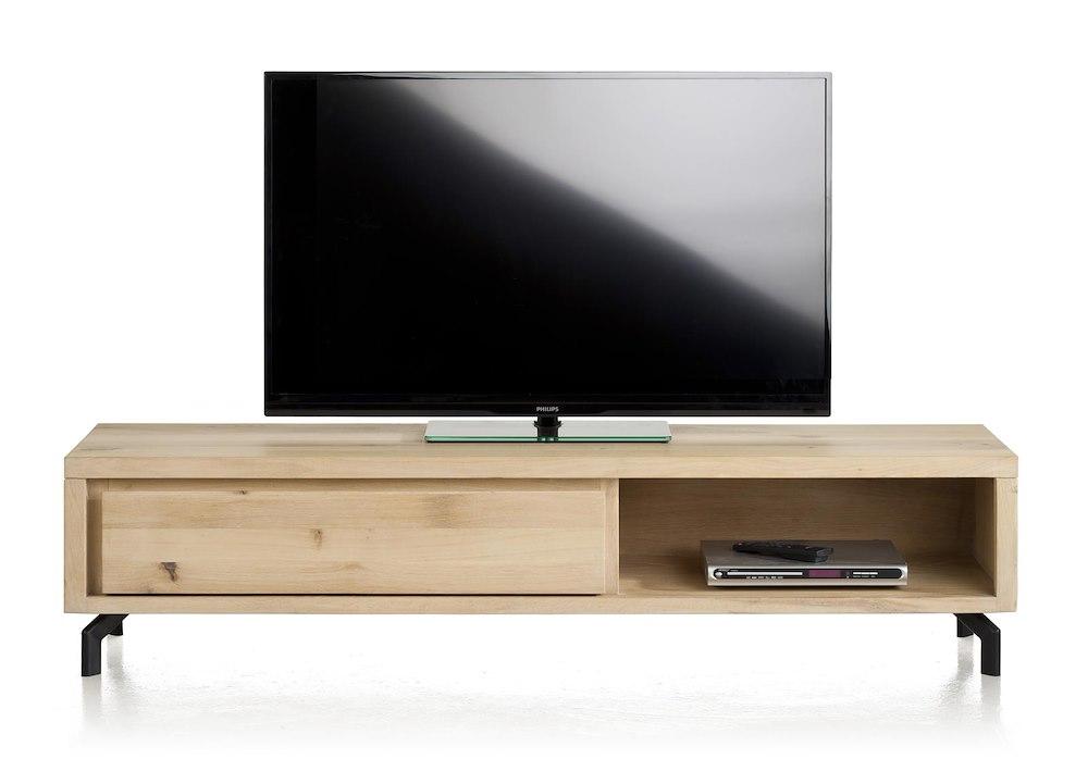 durango meuble tv 1 tiroir 1 niche 170 cm. Black Bedroom Furniture Sets. Home Design Ideas