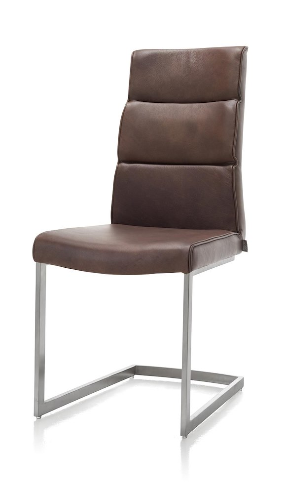 chaise de salle manger jascha pied tra neau en inox. Black Bedroom Furniture Sets. Home Design Ideas