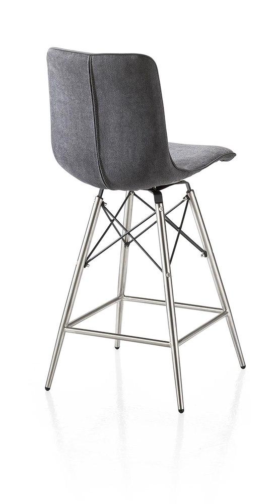 chaise de bar design c line pieds en inox assise en tissu. Black Bedroom Furniture Sets. Home Design Ideas