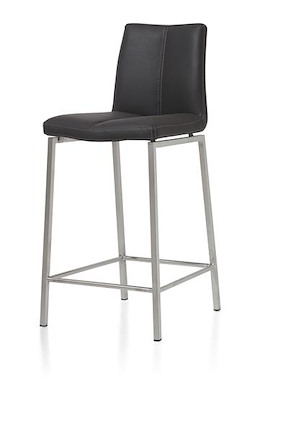 Brett, Chaise Bar Inox + Materiau Synthetique Moreno