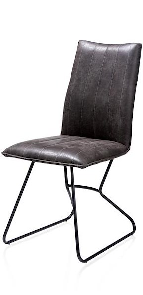 Ozzy, Chaise - Off Black - Tissu Secillia
