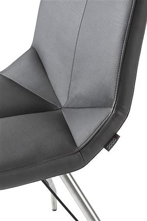 Artella, Chair Stainless Steel Design Leg + Moreno Anthracite