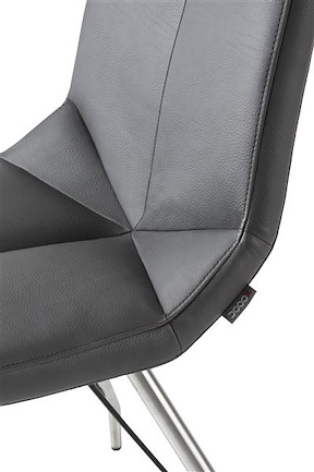Artella, Chaise Pietement Eiffel + Moreno Anthracite