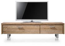 Piura, Meuble Tv 1-tiroir + 1-porte Rabattante - 175 Cm