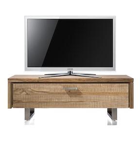Piura, Meuble Tv 1-porte Rabattante - 125 Cm