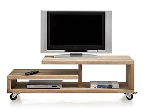 Piura, Meuble Tv 3-niches - 130 Cm