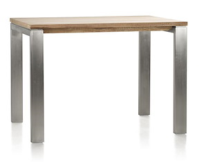 Piura, Table De Bar - 130 X 90 Cm + Pieds Metal