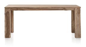 Piura, Table A Rallonge - 190 (+ 50) X 90 Cm + Butterfly + Pieds En Bois