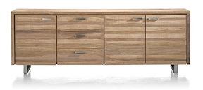 Piura, Buffet 3-portes + 3-tiroirs - 240 Cm