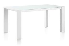 Quadra, Table 160 X 90 + Pieds En Metal + Top De Verre