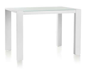 Quadra, Table De Bar 135 X 90 + Pieds En Metal + Top De Verre