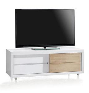 Byron Bay, Meuble Tv 1-porte Coulissante + 1-tiroir - 130 Cm
