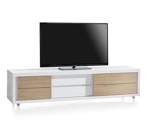 byron bay meuble tv 2 portes coulissantes 1 tiroir 190 cm