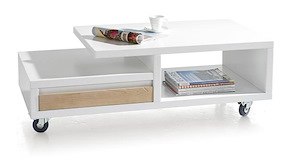 Byron Bay, Table Basse 120 X 60 Cm + 2-niches + 1-tiroir T&t
