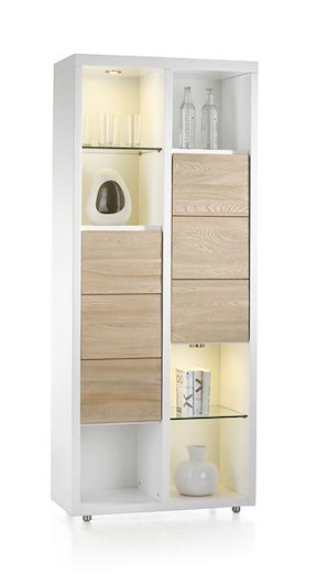 Byron Bay, Armoire 2-portes + 6-niches (+ Led)