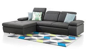 Arhus, 2.5-seater + Longchair - Relax-function + Box Left