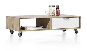 Verano, Table Basse 120 X 60 Cm + 1-tiroir T&t + 1-niche