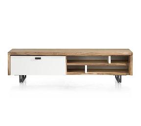 vista meuble tv 1 porte rabatt 4 niches 170 cm