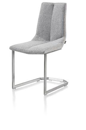 Artella, Chair Stainless Steel Square Swing + Forli Light Grey