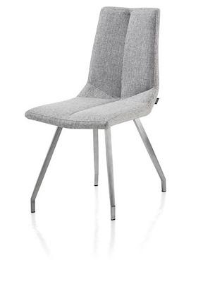Artella, Chair 4 Legs Stainless Steel + Forli Light Grey