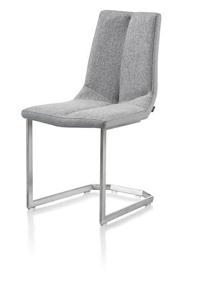 Artella, Chaise Inox Traineau Carre