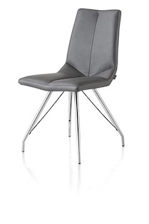 Arto, Chaise Inox Pietement Eiffel