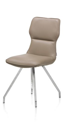 Dex Leder, Chaise - Resorts Ensaches - Pied Inox Artis