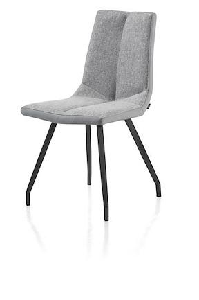 Artella, Chair 4 Legs Black - Combi Moreno / Forli