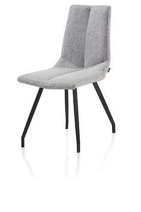 Artella, Chair 4 Legs Black - Forli Light Grey