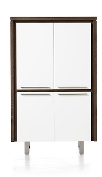 Mister, Armoire 4-portes Lacquered 99 Cm - Inox