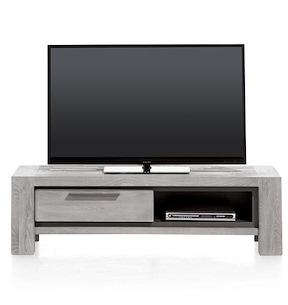 Montero, Meuble Tv 1-porte Rabattante + 1-niche - 140 Cm