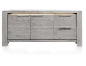 Montero, Buffet 2-portes + 2-tiroirs - 180 Cm