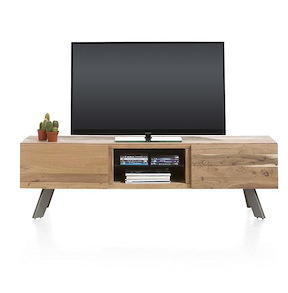 Garda, Meuble Tv 1-tiroir + 1-porte Rabattante + 2-niches - 160 Cm