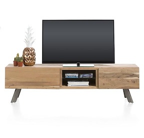 Garda, Meuble Tv 1-tiroir + 1-porte Rabattante + 2-niches - 190 Cm