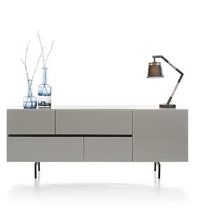 Lurano, Buffet 1-porte + 4-tiroirs - 190 Cm