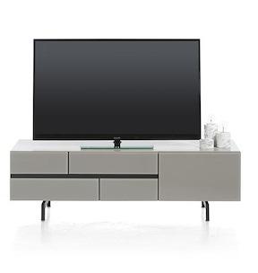Lurano, Meuble Tv 1-tiroir + 1-porte Rabattante - 140 Cm